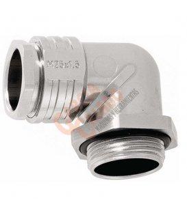 Prensaestopa metálico acodado m20 PMCM20