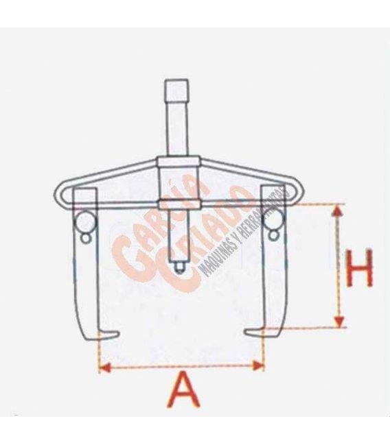 Extractor 2 garras articuladas 2 posiciones 25-80 09516040