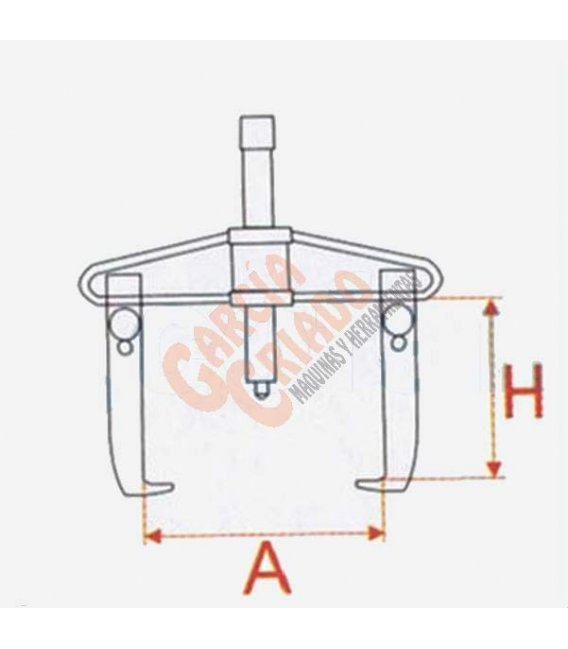 Extractor 2 garras articuladas 2 posiciones 50-160 09516042