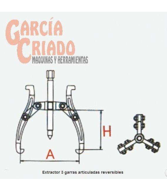 Extractor 3 garras articuladas reversibles 15-80 09511147