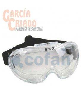 Gafas de protección Visión Panorámica, transparentes con ajuste elástico EN166 Cofan 11000027
