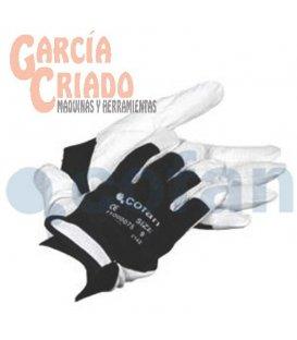 Guantes de Piel Flor Vacuno y Dorso Tela con Cierre Velcro 12 pares Cofan 11000075