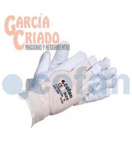 Guantes de Piel Flor Vacuno y Dorso Tela 12 pares Cofan 11000156