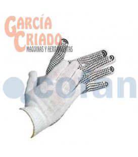 Guantes de Punto de Algodón Con Puntos de PVC 12 pares Cofan 11000048