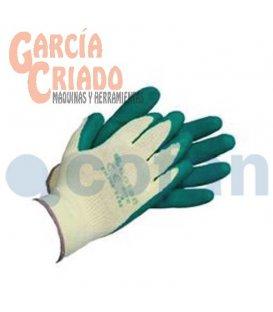 Guantes de Látex Rugoso con Soporte de Punto Verdes 12 pares Cofan 11000050