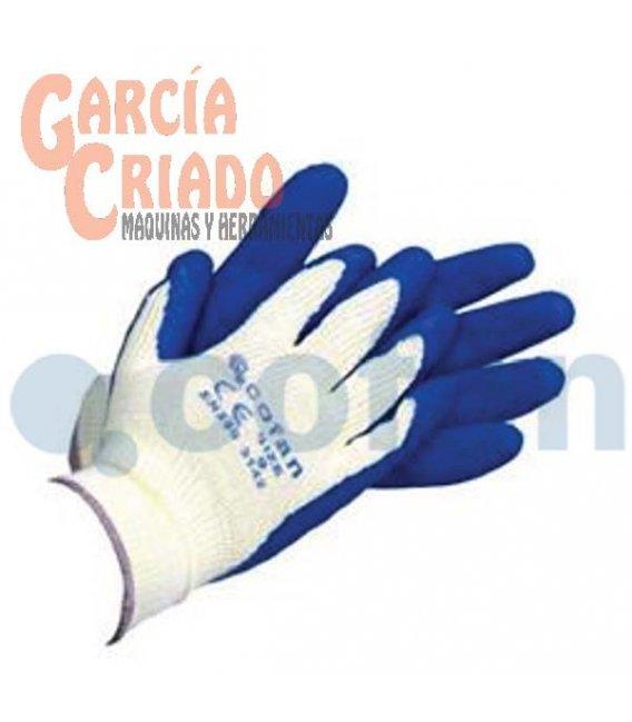 Guantes de Látex Rugoso con Soporte de Punto Azules 12 pares Cofan 11000067