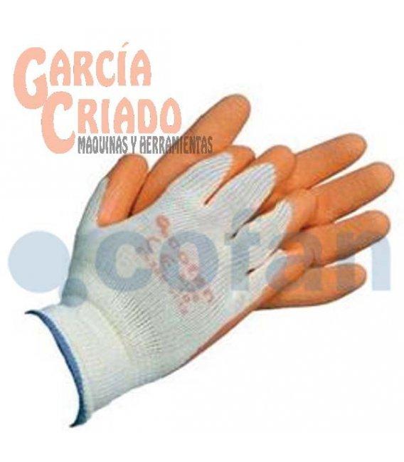 Guantes de Látex Rugoso con Soporte de Punto Naranja 12 pares Cofan 11000053