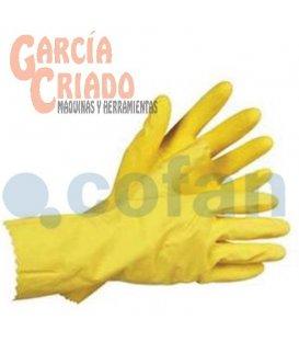 Guantes de Látex Amarillo para Limpieza 12 pares Cofan 11000018