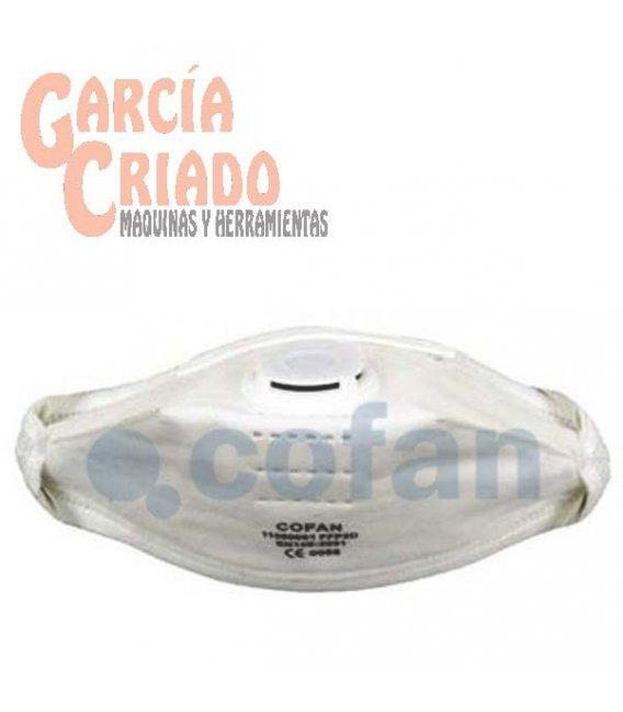 Mascarilla con Válvula FFP2D EN 149 20 unidades Cofan 11000061