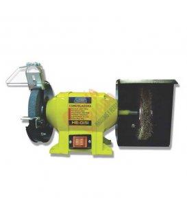 Esmeril eléctrico con piedra y cepillo Clavesa HE0151