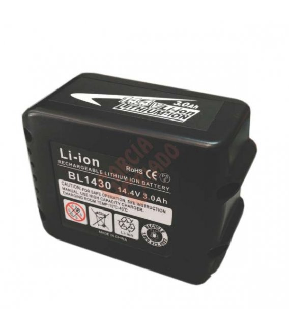 Batería litio 14,4V 3AH compatible Makita BL1430