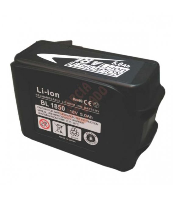 Batería litio 18V 5AH compatible Makita BL1830(ES)