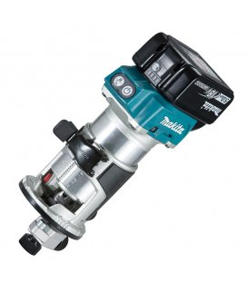 Fresadora multifunción 18V litio-ion 6 y 8 mm Makita DRT50RTJX2