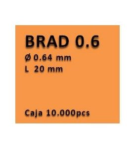 Clavo sin cabeza clavadora 0.6 - 20 PV0620