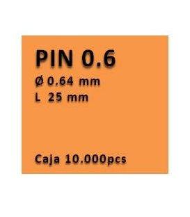 Clavo sin cabeza clavadora 0.6 - 25 PU0625