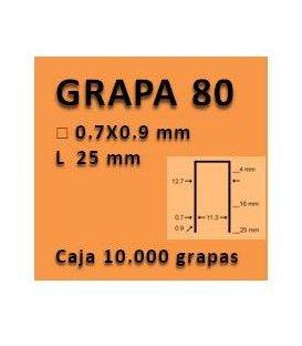 Grapa linea 80 - 25 GR008025