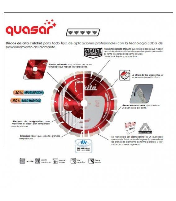 Disco de diamante Quasar 230mm B12706