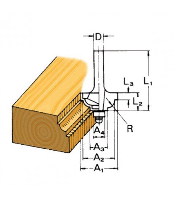 Fresa molduradora con rodamiento D09581